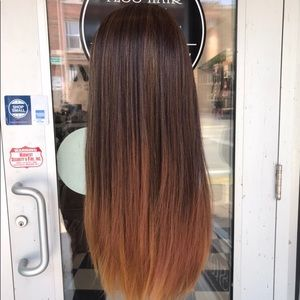 Accessories - Wig brown ombré 360 honey tips trending now Wig